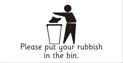 Directional Mirrors by Safety Sign Please Put Your Rubbish In The Bin 2