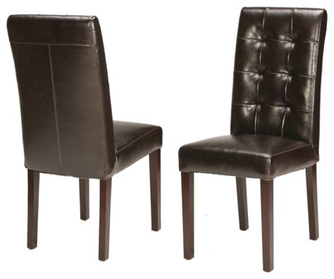 genuine leather dining room chairs genuine leather tufted dining chair traditional dining