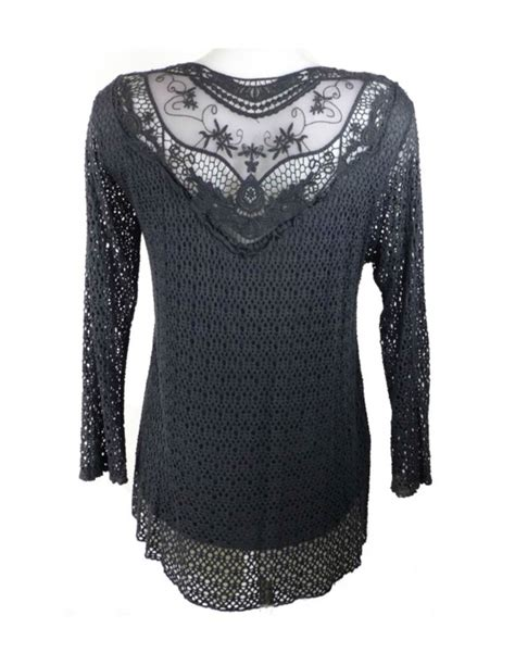 knit front to back giuliana black knit front lace back top fashion fix