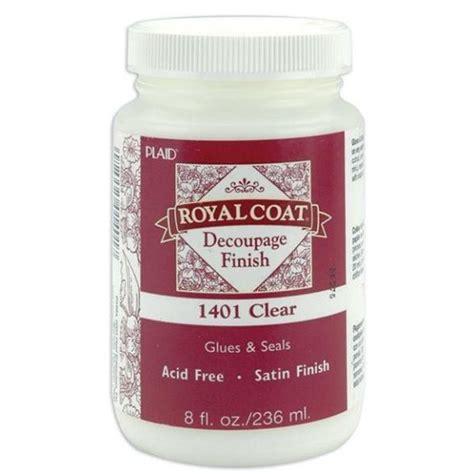 royal coat decoupage finish plaid royal coat clear satin decoupage finish 236ml