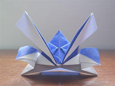 how to make an origami samurai helmet katakoto origami origami kabuto
