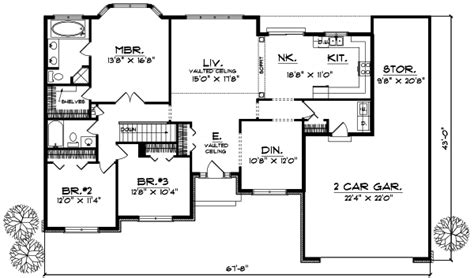 2 bedroom ranch floor plans house plans ranch 3 bedroom homes floor plans