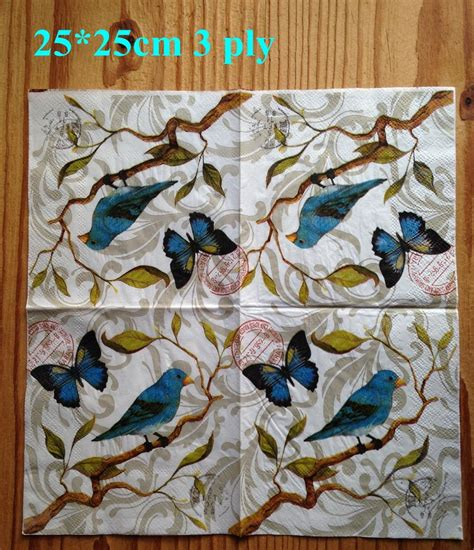 how to decoupage using napkins aliexpress buy 2 x decoupage paper napkin 25x25cm 3