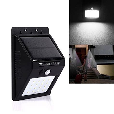 solar sensor lights solar powered sensor led wall light includes delivery