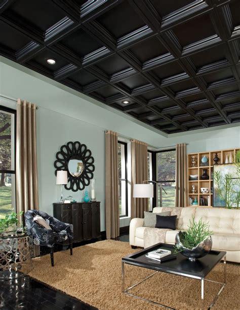 Ceiling Material Estimator by Deep Coffer Black Easy Elegance Coffered Black 2 X 2