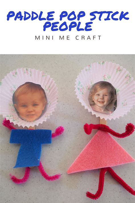 paddle pop stick craft for paddle pop stick mini me craft be a
