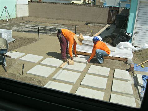 how to install pavers for a patio how to install 24 quot concrete pavers lynda makara