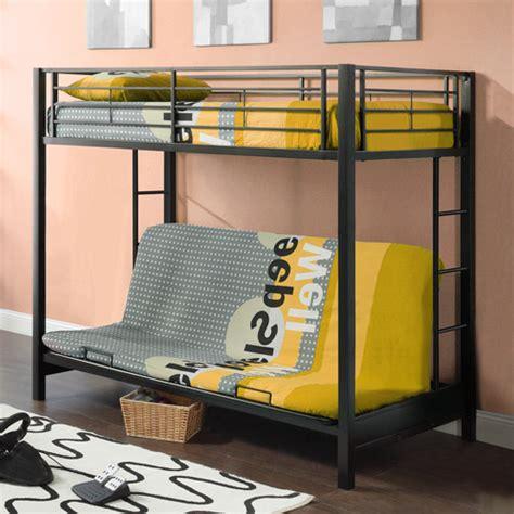 walmart bunk beds futon futon premium metal bunk bed black walmart