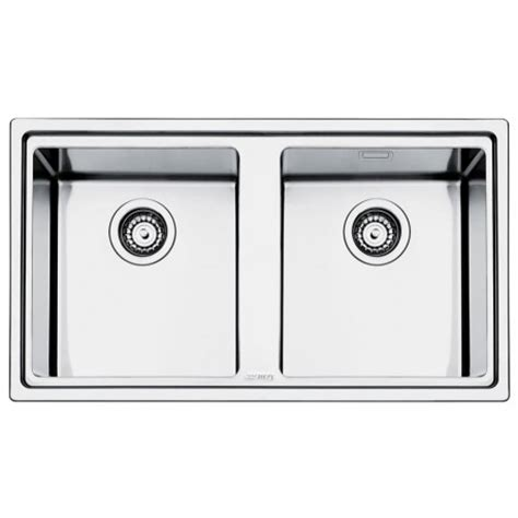 smeg kitchen sinks available the smeg lft862 mira kitchen sink 2 bowls brushed stainless