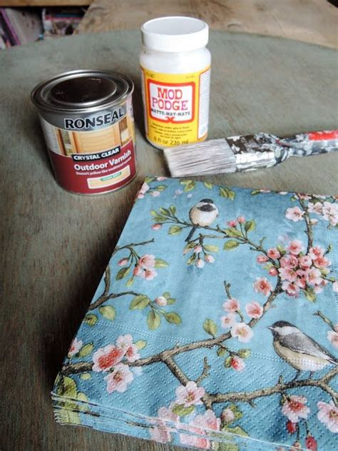 decoupage for outdoors the 25 best decoupage table ideas on