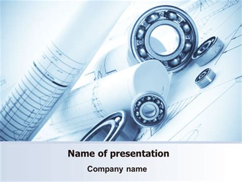 mechanical sketch powerpoint template backgrounds 07729