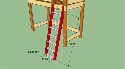 build bunk bed how to build a ladder for a bunk bed 28 images plans