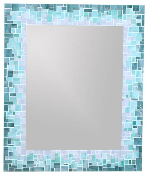 mosaic tile bathroom mirror sunburst mirror in glass mosaic tiles of blue green and