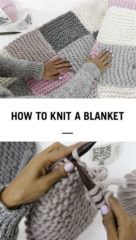 how to knit a blanket how to knit a blanket by wool and the crochet and knit