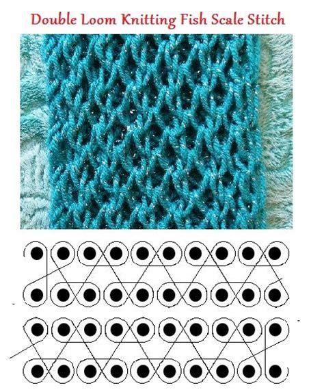 knit stitch on loom loom knitting fish scale stitch by theresa higby