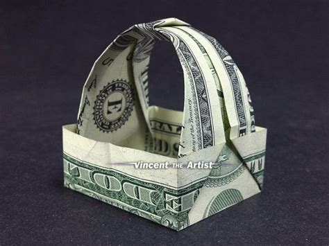 origami gift basket tip gift basket dollar origami unique gift made of real