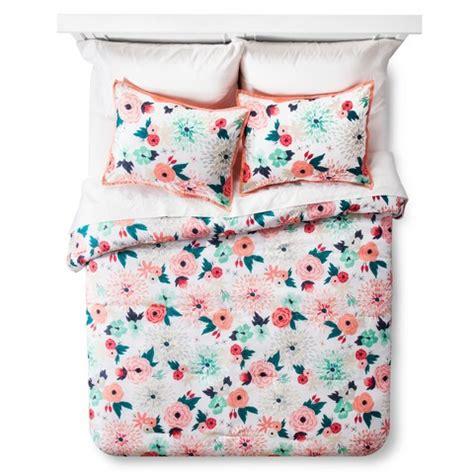 multi color comforter set multi floral printed comforter set multicolor target