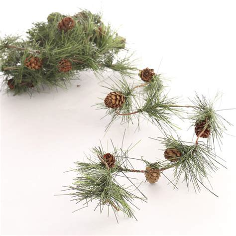 artificial pine roping mini artificial pine and pinecones roping