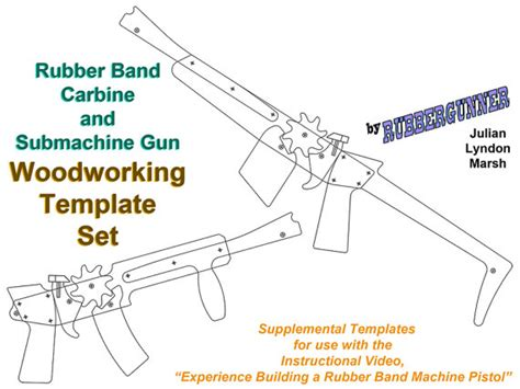 create rubber st free rubber band carbine and submachine gun template by