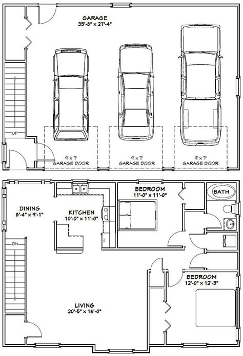 floor plans with 3 car garage 25 best ideas about garage apartment plans on