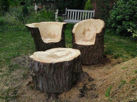 Stump Chair by Fab Art Diy Log Home Garden Decor Ideas