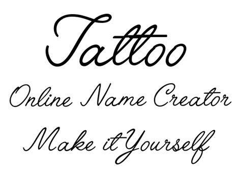 make it yourself online tattoo name creator