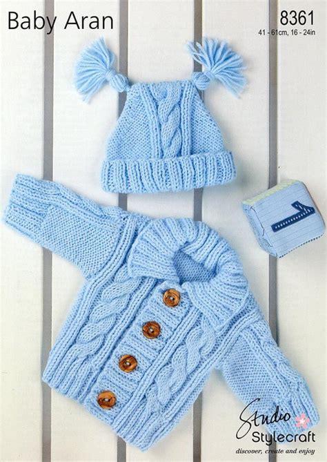 Stylecraft 8361 Knitting Pattern Cardigan Hat In