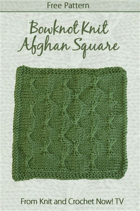 knit and crochet now episodes bowknot knit afghan square featured in episode 302 of