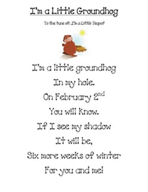 groundhog day song song quot i m a groundhog quot school stuff