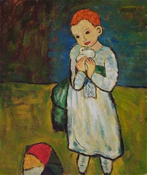 picasso paintings as a child kote eristavi pablo picasso quot child with a dove quot