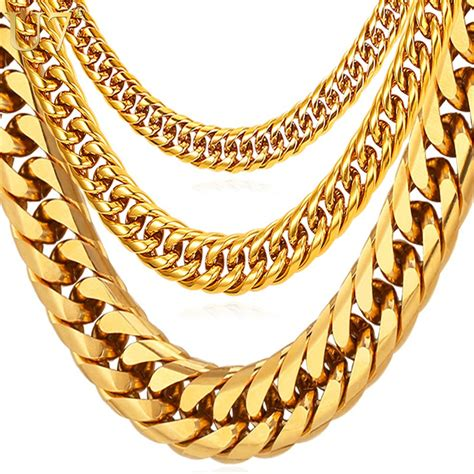 chains for jewelry u7 hip hop chains for jewelry wholesale yellow gold