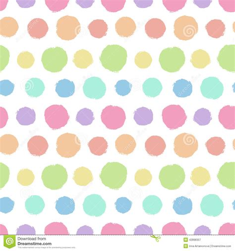 seamless pattern with painted polka dot texture stock
