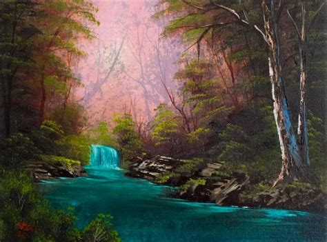 bob ross painting a waterfall bob ross turquoise waterfall paintings bob ross
