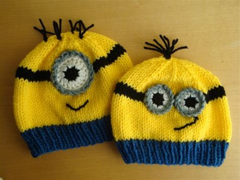 how to knit minions large minion hat inspired from despicable me child size