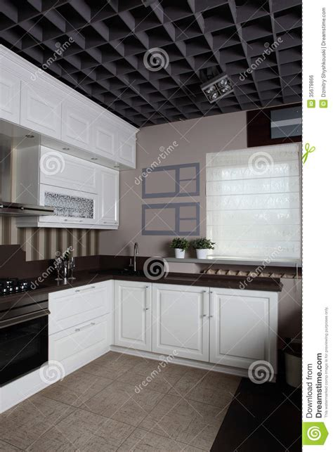 modern stylish furniture modern kitchen with stylish furniture royalty free stock