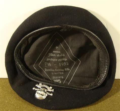 dorothea knitting mills limited canadian basque beret regimental insignia