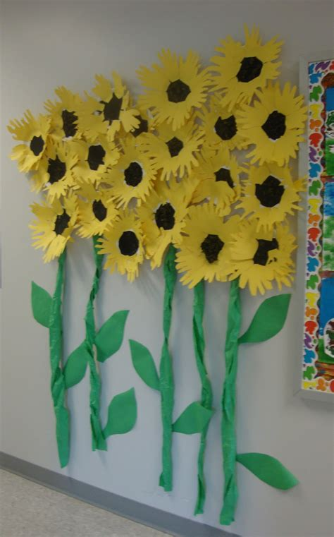 sunflower crafts for paper scissors glue sunflowers and sculptures