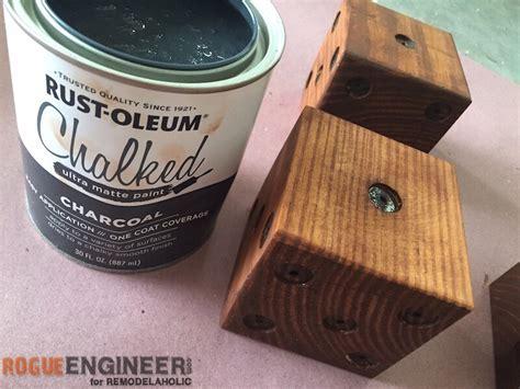 diy chalk paint drying time remodelaholic diy yard dice tutorial
