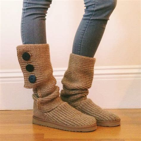 uggs knitted boots ugg knit boots with button detail accesorios