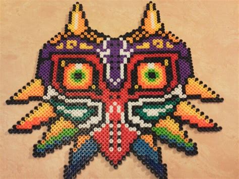 how to make a bead mask majora s mask in perler by lynzie1217 on deviantart