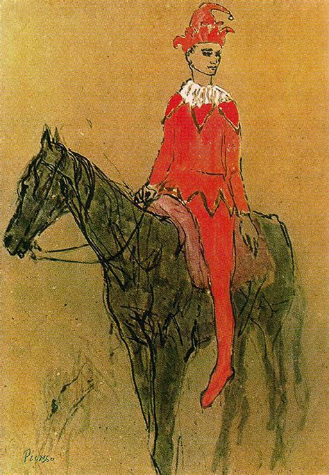 picasso paintings of horses harlequin on the horseback 1905 pablo picasso wikiart org