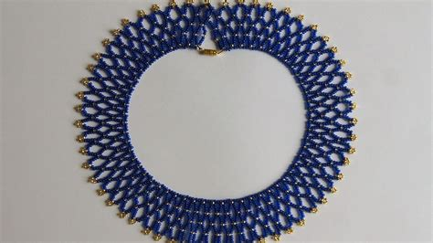 how to make gold jewelry how to make a blue gold bead necklace diy style tutorial