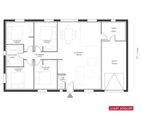 plan maison 100m2 plein pied gratuit plan maison plein pieds magnificent on modern interior and