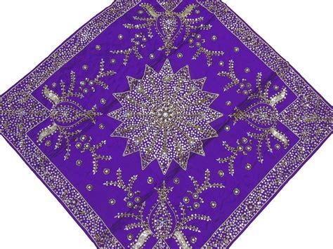 beaded table l purple table overlays wedding decorative beaded handmade
