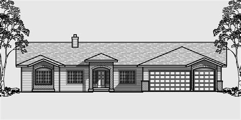 house plans with 3 master suites ranch house plans american house design ranch style home