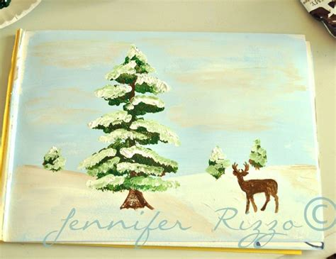 bob ross painting deer how to paint a deer with a winter step by step
