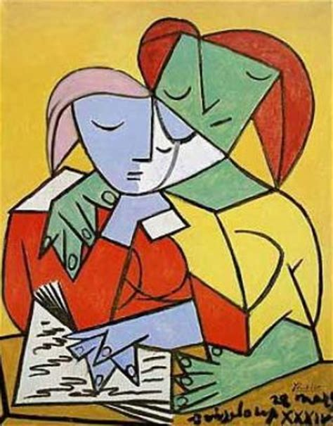 picasso paintings reading two reading print by pablo picasso worldgallery co uk