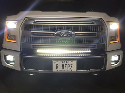 led light bar f150 30 quot curved led light bar installed ford f150 forum