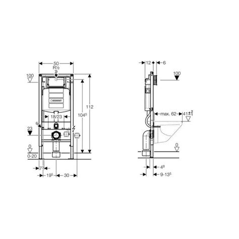 Inbouwreservoir Wc Compleet by Geberit Duofix Up320 Inbouwreservoir H112 Cm Compleet 111
