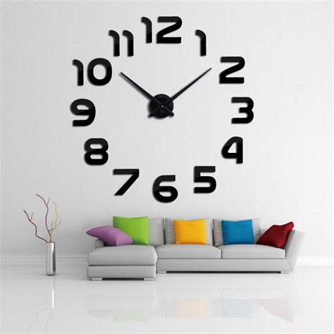 sticker wall clock 2016 new clock wall clocks horloge 3d diy acrylic